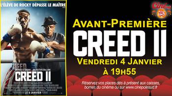 Creed II Vendredi 4 Janvier à 19h55