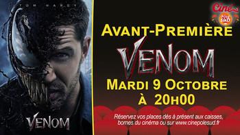 Venom Mardi 9 Octobre à 20h00