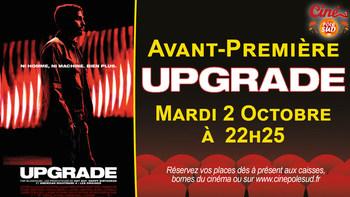 Upgrade Mardi 2 Octobre à 22h25