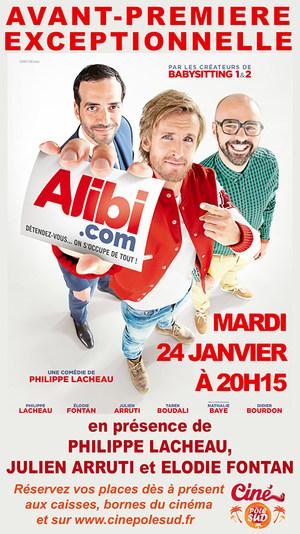 Alibi.com Mardi 24 Janvier à 20h15 en présence de Philippe Lacheau, Julien Arruti et Elodie Fontan