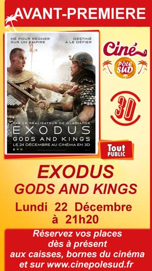"""AAvant-premi�re de """" EXODUS : GODS AND KINGS """" en 3D Lundi 22 D�cembre � 21h20"""