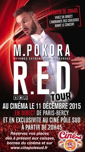 MATT POKORA au Cin� P�le Sud le 11 d�cembre 2015 en direct de Paris-Bercy � 20h45