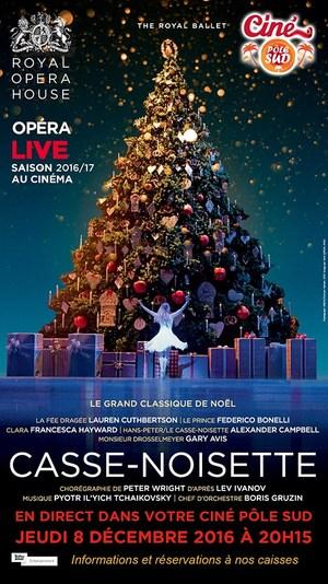 CASSE NOISETTE De Wright - Ballet en direct du Royal Opera House au Ciné Pôle Sud Jeudi 8 décembre 2016 à 20H15