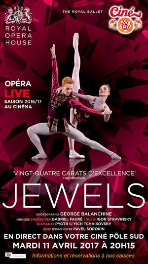 JEWELS De Balanchine en direct du Royal Opera House au Ciné Pôle Sud Mardi 11 avril 2017 à 20H15