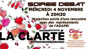 Soir�e D�bat LA CLARTE Mercredi 4 Novembre � 20h20