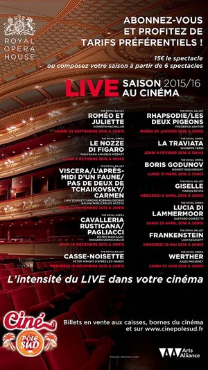 Saison Op�ras et Ballets 2015-2016 au Cin� P�le Sud en direct du Royal Opera House de Londres
