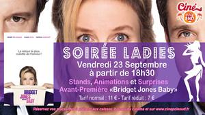 Vendredi 23 Septembre, rendez-vous d�s 18h30 pour une soir�e Ladies et la projection de Bridget Jones Baby � 20h15 !