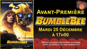 Avant-Première Bumblebee Mardi 25 Décembre à 19h50