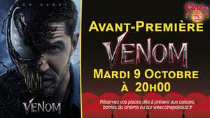 Avant-Première Venom Mardi 9 Octobre à 20h00