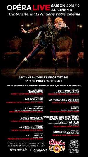 Saison Opéras et Ballets 2018/2019 au Ciné Pôle Sud en direct du Royal Opera House de Londres