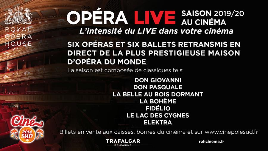 Saison Opéras et Ballets 2019/2020 en direct du Royal Opera House de Londres